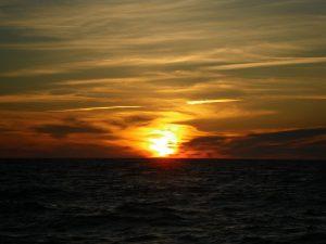 Abendstimmung auf der Überfahrt nach Fårö, mal wieder ein traumhafter Sonnenuntergang!