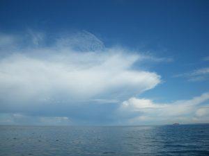Ob das wohl eine Ambosswolke ist, die bald ein Gewitter ausspuckt?